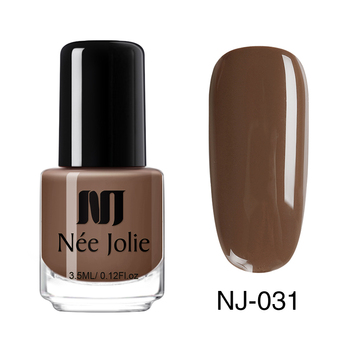 Coffee Gray Red Series Nail Art Polish Beauty & Skin Care Nail Art Color: 3.5ml NJ031
