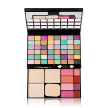 48 Color Makeup Palette Eye Shadow+Lip Gloss+powder+blusher+mirror Puff Cosmetic Face Facial Care Cream Contouring Makeup Set