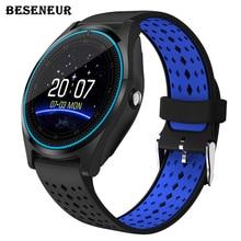 Новинка 2017 года Смарт-часы V9 с Камера Bluetooth наручные часы SIM карты SmartWatch для телефона Android Беспроводные устройства PK dz09 gt08 A1