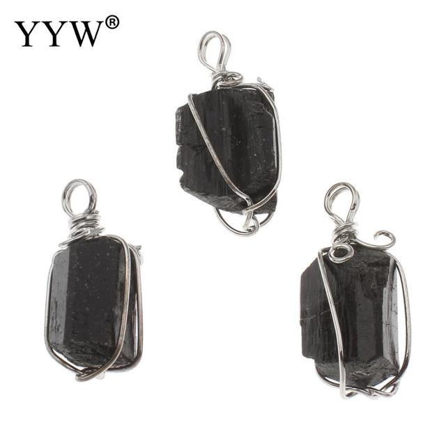 e5712d815 Men New Classic Handmade Natural Tourmaline Stone Pendant Crystal black  Quartz Crystal Necklace Pendant Men Jewellery -in Pendants from Jewelry ...