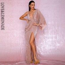 Einzigen Split Kleid V-ausschnitt