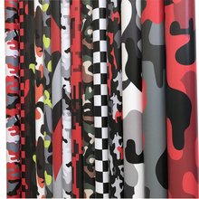 Arctic Snow Black Grey Red Army Green Camouflage Vinyl Car Wrap Foil Film With Air Bubbles Scooter Motorcycle Wrapping Sticker protwraps black green brown camouflage vinyl motorcycle car vehicle scooter diy camo vinyl wrap with bubble free