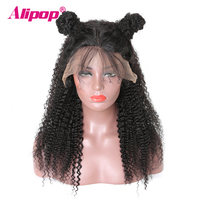 360 Lace Frontal Wig Brazilian Kinky Curly Wig 150 Density Lace Front Human Hair Wigs With Baby Hair ALIPOP Remy 360 Lace wig