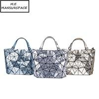 MANSURSPACE luxury handbags women bags designer Latest styles unique mirror geometric laser bao bags ladies diamond bucket bag