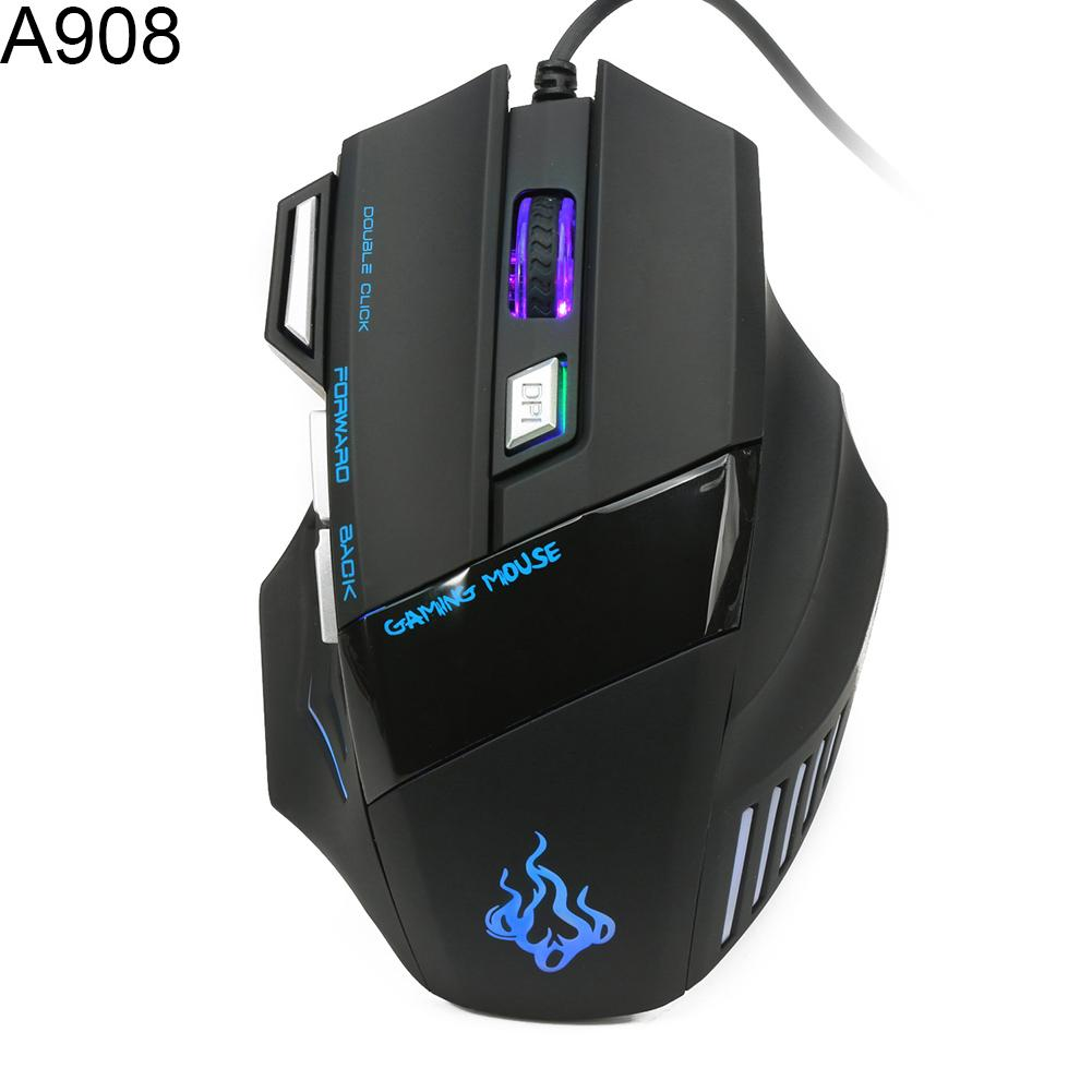 7 Buttons 1200-5500DPI USB 2.0 Multicolor Lighting Wired Computer Gaming Mouse Good Quality