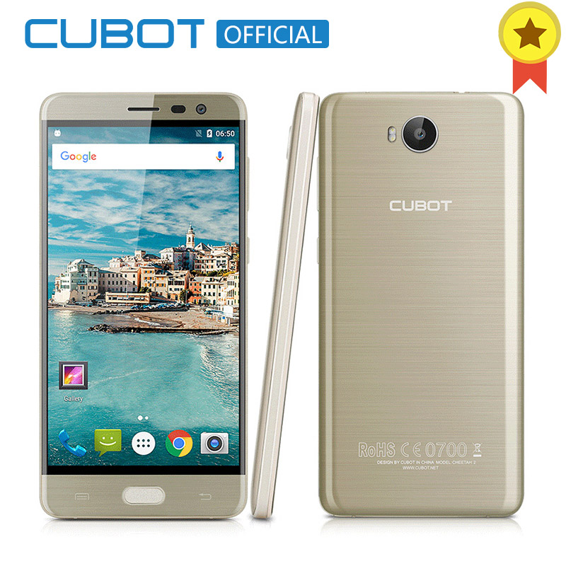 Original Cubot Cheetah 2 Smartphone MT6753 Octa Core 5.5 Inch FHD 3GB RAM 32GB ROM Cell Phone Android 6.0 13.0MP Mobile Phone