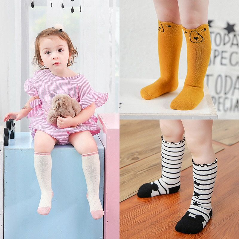 Kids-Long-Socks-Knee-High-toddler-Girls-Boot-Sock-Leg-Warmer-Cute-Cat-Black-baby-Cotton-Sock-for-baby-girls-sloth-socks-4