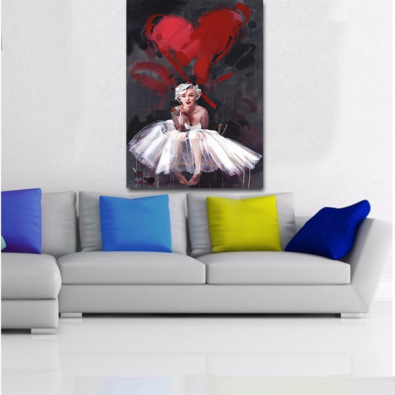 Marilyn Monroe and her quote Photo PRINT ON FRAMED CANVAS WALL ART Home Decor