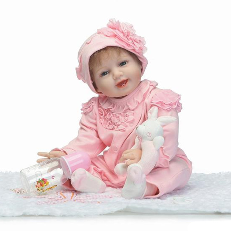 50CM Silicone Reborn Baby Dolls kids Playmate Gift For Girls Toys 20 Inch Baby Alive Soft Toys for Children Birthday Gifts 18 inch vinyl reborn doll kids playmate gift for girls 45 cm baby alive soft toys for children lifelike reborn babies dolls
