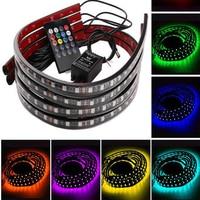 Auto Decoratieve Licht Kleurrijke Draadloze Afstandsbediening Muziek Geluid Controle Lamp Omgevingslicht Chassis Licht 90*120 cm