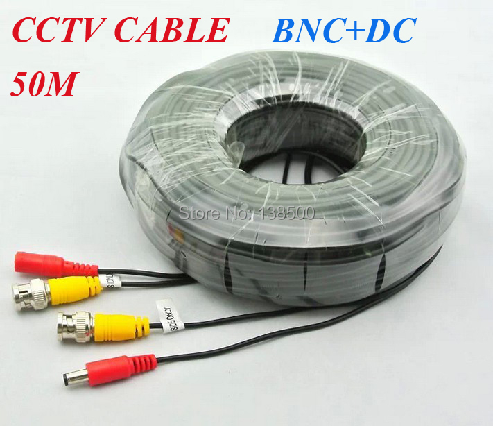 ФОТО Free Shipping High Quality 18m 25m 50m 20m BNC DC Connector CCTV Cable 160FT