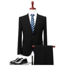 (Giacca + Pantaloni Maglia) 3 Pezzi Vestito Da Uomo Slim Fit Usura Business Men  Costume Sposa Mariage Homme M-4XL