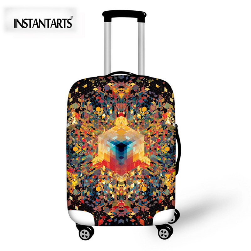 INSTANTARTS Travel Accessories Luggage Protective Covers Trunk Case for 18-30 Inch Suitcase Elastic Stretch Dust Rain Bag Cover