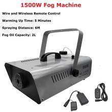 цена на 1500W Fog Machine Stage Smoke Machine Professional Lighting Effect 1500W Fogger Perfect For Wedding Party Light Dj Equipments