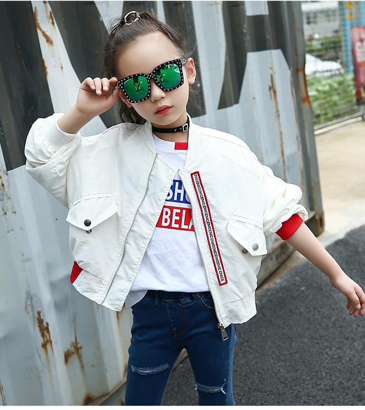 HTB17VxhhUQIL1JjSZFhq6yDZFXay - Weixu Children Spring Autumn Coat for Girls Fashion Kids White Bat Sleeves Oversize Biker Jacket Girls School Wear Bomber Jacket