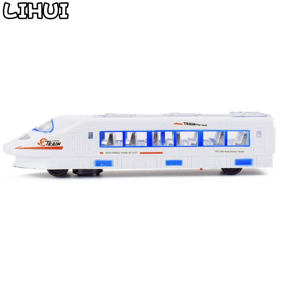 Electric High-speed Train Toys For Boys  LED Flashing Lights Sounds Music 360 Changes Directions Educational Toy Model For  Kids