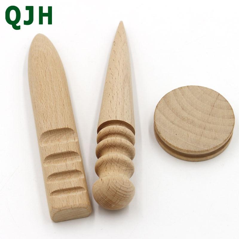 Leather Tools Leathercraft Edge Trimmer Polishing Tool Milling Leather Multi-Size Round Wood Stick Leather Edging Stick