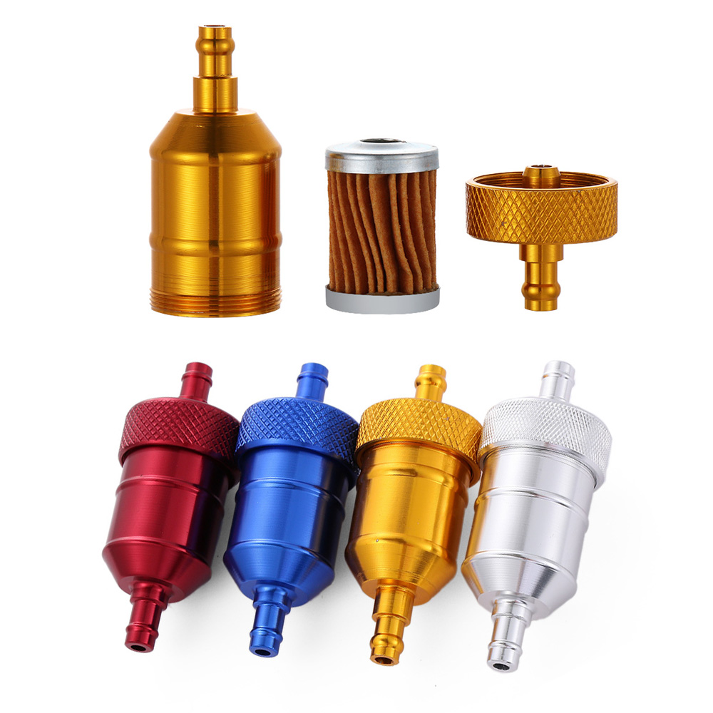 """Universal Motorcycle Inline Fuel Filter Petrol 6mm 8mm 1//4/"""" 5//16/""""Pipe"""