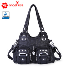 Angel Barcelo Fashion Casual Women Handbags Solid Simple Cell Phone Pocket Purse Roomy XS161070