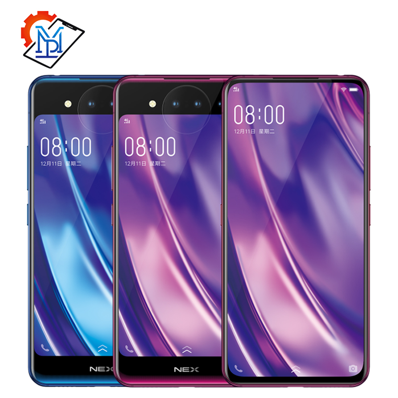 Vivo NEX Dual Display Cell Phone 6.39 inch 10GB RAM 128GB ROM Snapdragon 845 Octa Core Android 9.0 3D TOF Cameras Smartphone