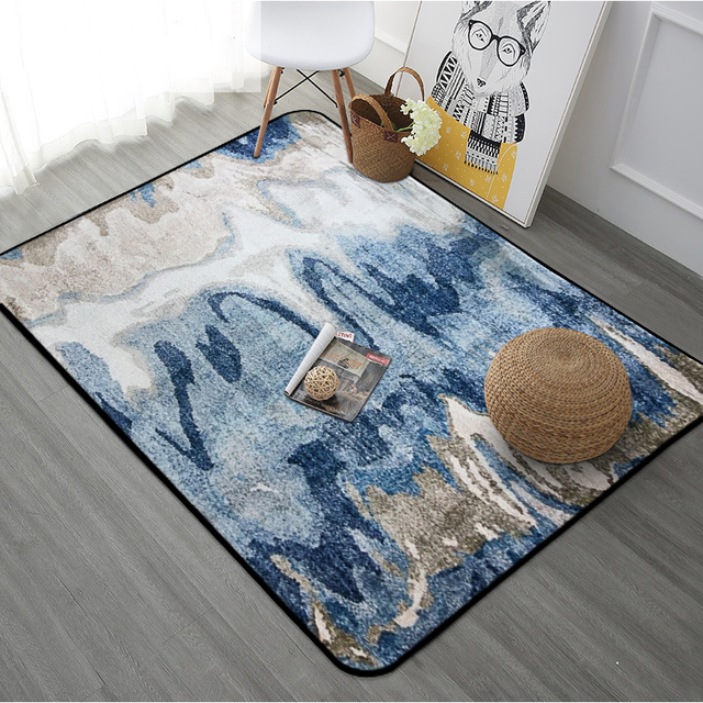 Modern Style Rugs Abstract Painting Printed Bedroom Carpet Household  Rectangle Floor Mat Carpets For Living Room