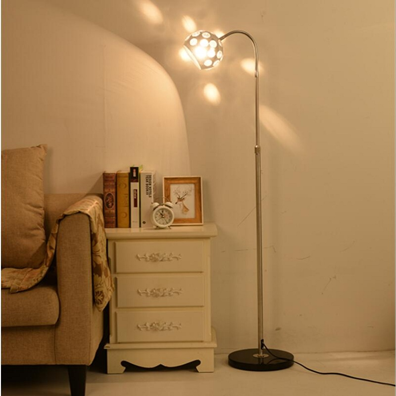 Modern simple living room new study bedroom bedside lamp personality transparent pattern universal remote control floor lamp