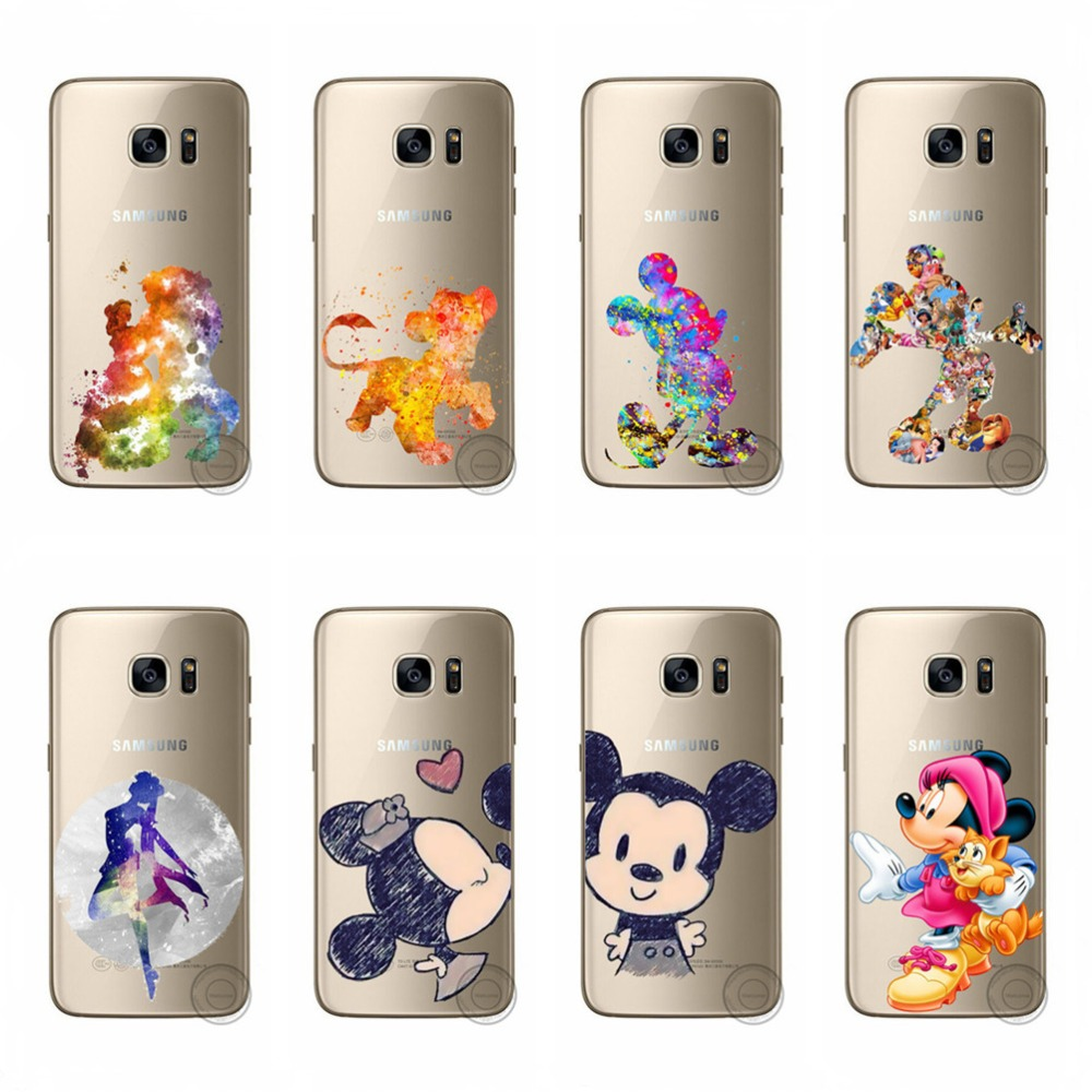 For Samsung Galaxy J5 2016 J510 Phone Case Cute Mickey Minnie Mouse Dog Soft Cases Covers For Samsung J510 J5 2016 Fundas Coques