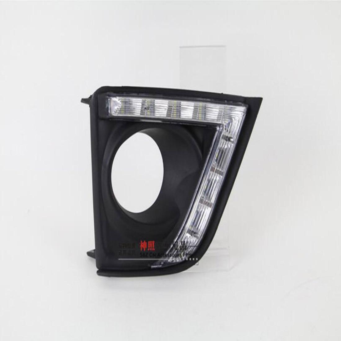 Dongzhen Auto For Toyota Corolla 2011-2014 Car Daytime Running Light DRL LED Turn Signal Light Highlight Fog Lamp Modified 2pcs