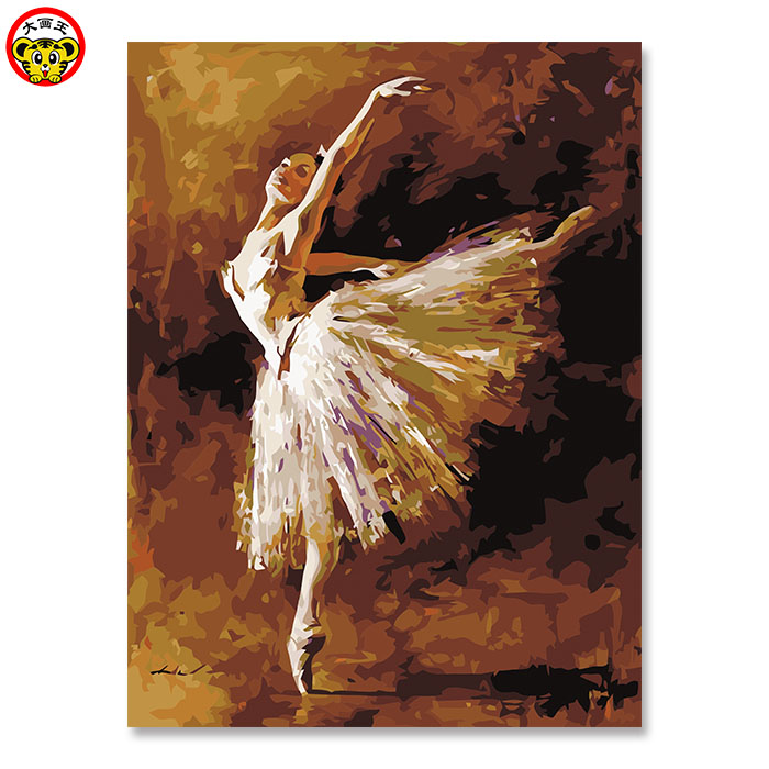 Painting By Numbers Art Paint By Number Digital Painting Ballet Girl Coloring Diy Blue Beauty Dancing Dance Campus Sunlight Yout