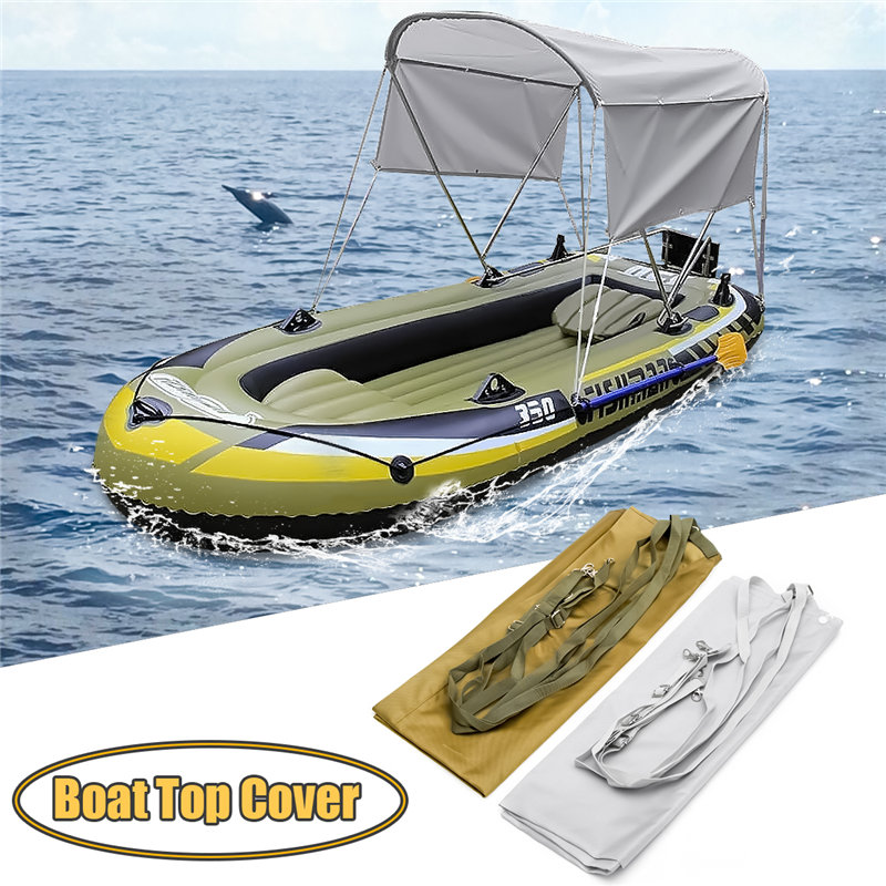 Newest kayak Stainless steel Aluminum Round Tubes Bimini Top UV Waterproof Boat Cover with Boot and Hardware Kayak Accessories душевая стойка clever bimini 97057