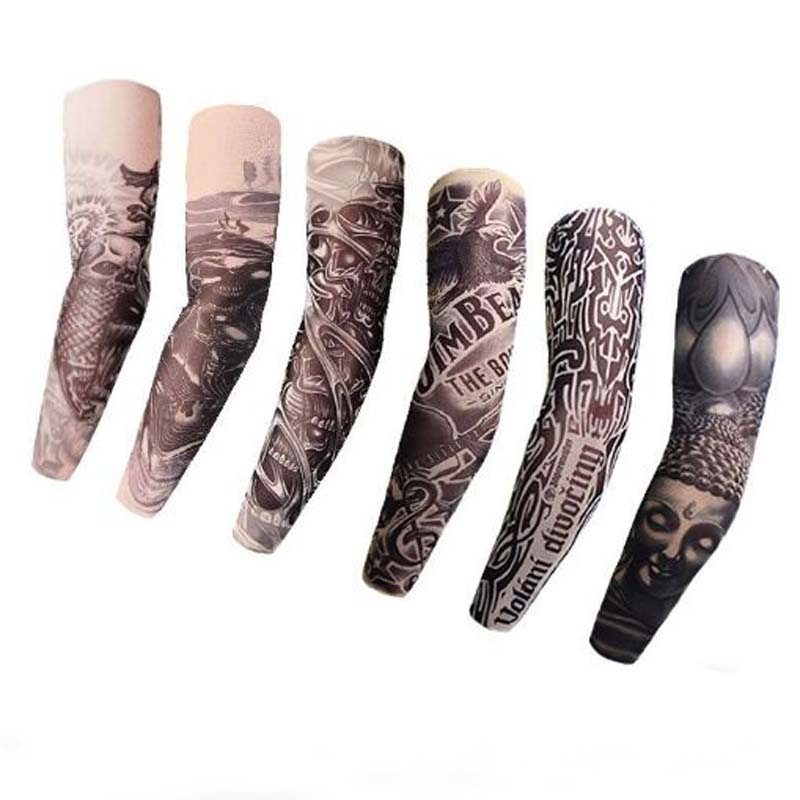 XEONGKVI Summer Seamless Tattoo Arm Warmers Brand Bicycling Icy Sleeve Women Men Guantelete Tatoo Arm Sleeves For Sun Protection