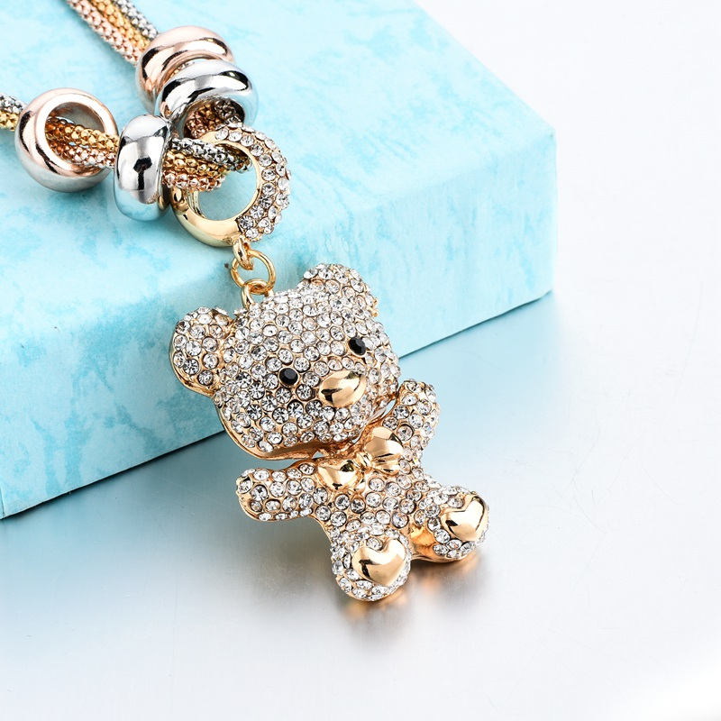 LongWay Gold Long Crystal Lovely Bear Colgante Collar Para Las - Bisutería - foto 5