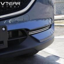 Vtear для Mazda CX5, 2017-2018 интимные аксессуары автомобиля Передние противотуманные свет отделкой полоски украшения крышки снаружи ABS Хром Стайлинг