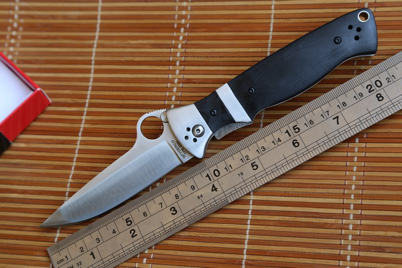 JUFULE OEM SPYDECO C149 Folding font b Knife b font G10 steel Handle CPM S30V blade