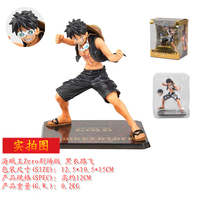 12 cm Anime Figma EEN STUK Film Goud ver Aap D Luffy zwart strijd pak zoro harley PVC action Figure Collectible Model Speelgoed