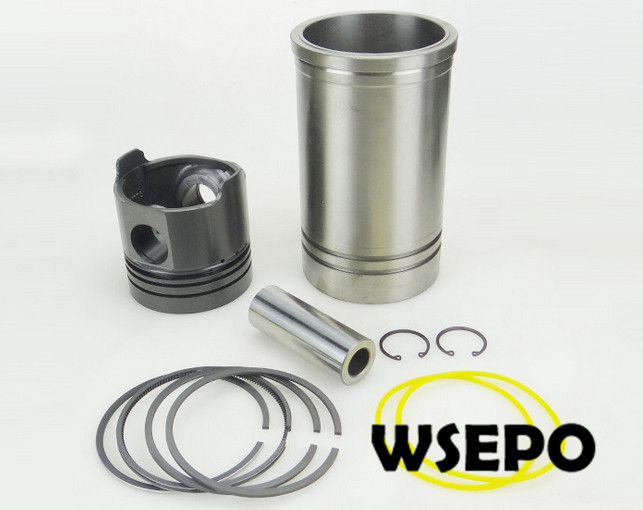 OEM Quality! Cylinder Sleeve/Liner+Piston Kit(06 pc kit) for Direct Injection ZS1105 4 Stroke Small Water Cooled Diesel Engine 38mm cylinder barrel piston kit