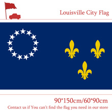 3x5ft US City of Former Louisville Flag State of Kentucky 90*150cm 60*90cm Flag 100d Polyester Banners with Brass Grommets цена и фото
