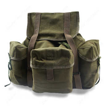 WW2 US Army M14 Military Backpack Hiking CANVAS Bag KHAKI AND ARMY GREEN