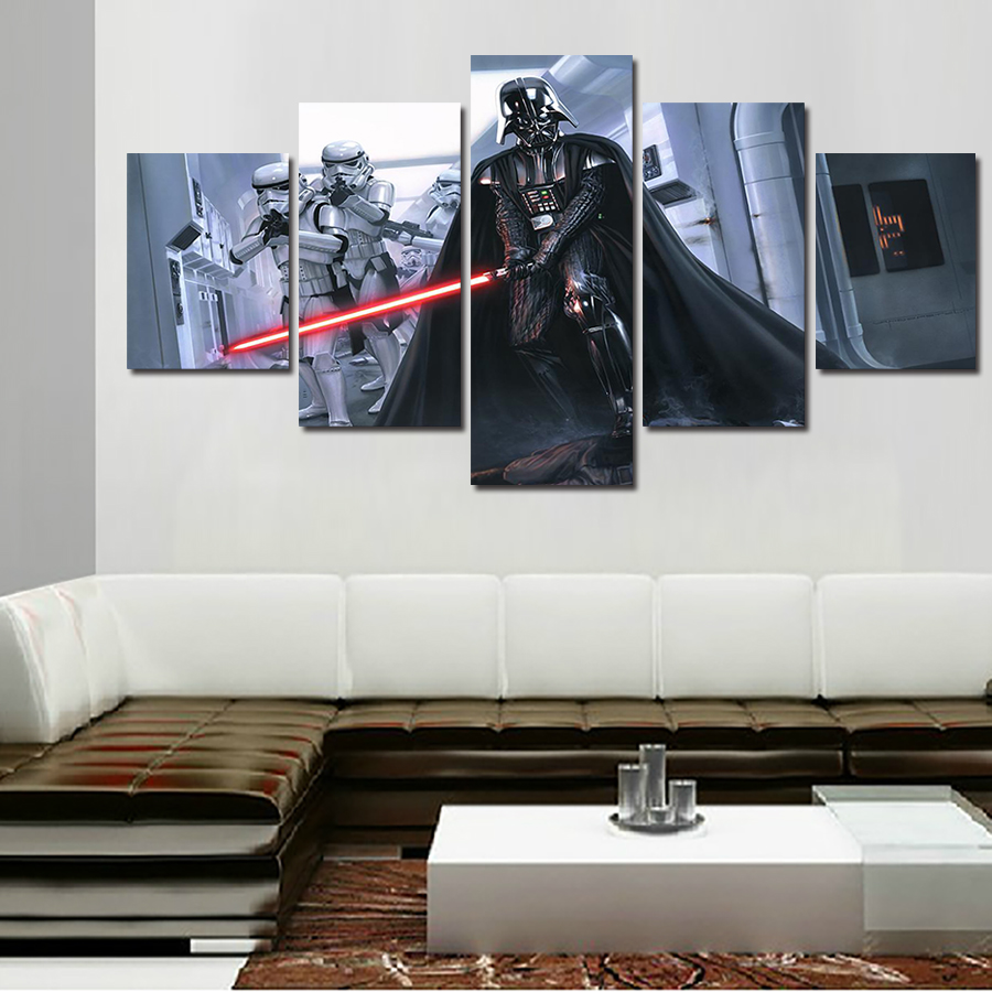2017 Sale New Fallout Wall Art Framed Star Wars Darth Vader Painting ...