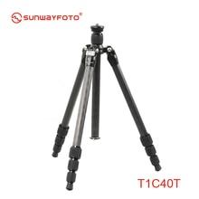 SUNWAYFOTO T1C40T Fibra De Carbono Profissional Tripé de Câmera Trepied para Dslr Tripode Peso Super Leve Viajante