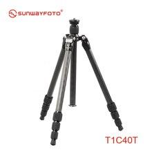 SUNWAYFOTO T1C40T Carbon Fiber Professional Camera Tripod Trepied for Dslr Super Light Weight Traveller Tripode