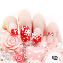 New Coming Snowflakes Snowman 3D Nail Art Stickers Decals Girl Diy For Nails Tools Fingernail Accessories Christmas Decoration