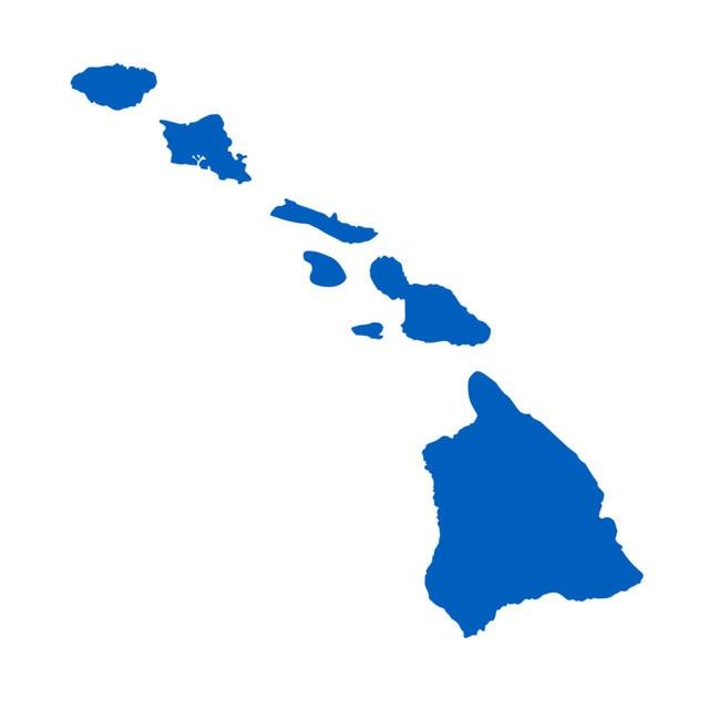 Online Shop Hawaii Hawaiian Islands Map vinyl window laptop decal ...