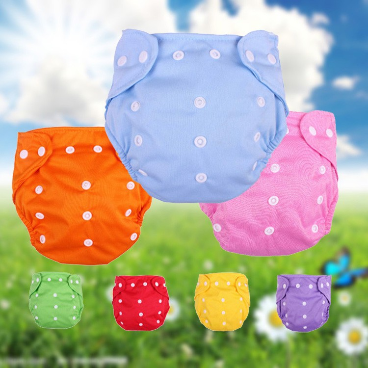 Promotion! 2 diapers+5diaper paper, Baby Washable Reusable Real Cloth Pocket Nappy Diape ...