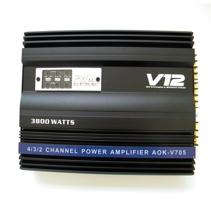 I Key Buy Super Power 3800W 12V MOSFET Car Amplifier Full Range 4 way 4 Channel
