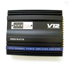 Я Key купить супер Мощность 3800 Вт 12 В MOSFET автомобильный Усилители домашние полный спектр 4-способ 4 канала сабвуфер Усилители Динамик Booster черный
