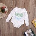 Moda Infantil de Algodão Crianças roupas de Bebê roupas roupas Para Bebês Meninos Meninas Bodysuit Manga Longa Bonito Uma Peças Macacão Infantil