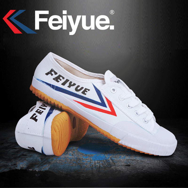 Feiyue Original Sneakers Classical Shoes, Martial arts Taichi Taekwondo Wushu Kungfu Soft comfortable Sneakers men women shoes-in Skateboarding from Sports & Entertainment