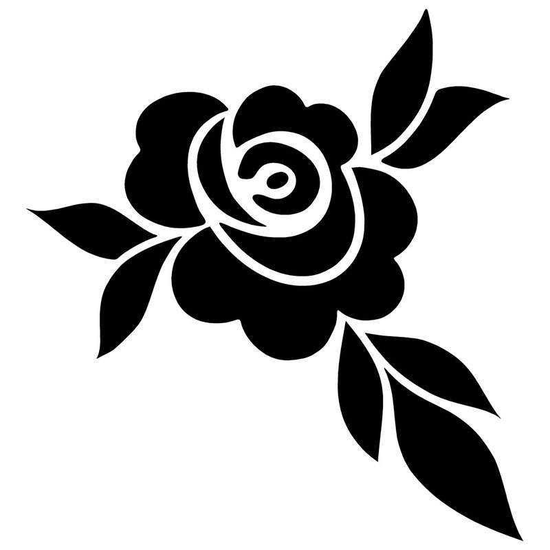 9 6 10 2cm Rose Flower Car Stickers Reflective Vinyl Decal