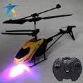 Mini rádio controlado helicóptero elétrico de rc Infravermelho helicóptero 2.5 Canais Giroscópio aircraft quedas graviti bb brinquedo gaiola de USB